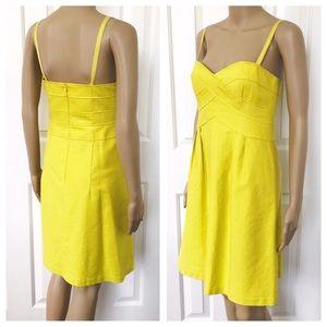 Nanette Lepore yellow mini dress 6